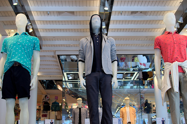 Spring fashions at Uniqlo's Union Square store